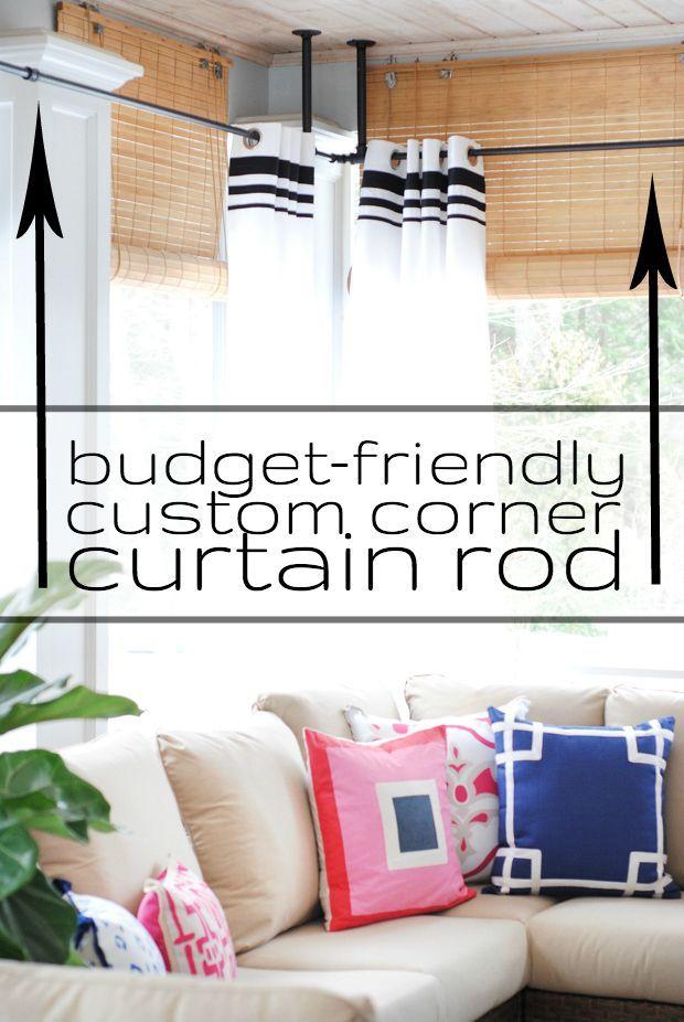 Diy Budget Friendly Custom Corner Curtain Rod The Chronicles Of