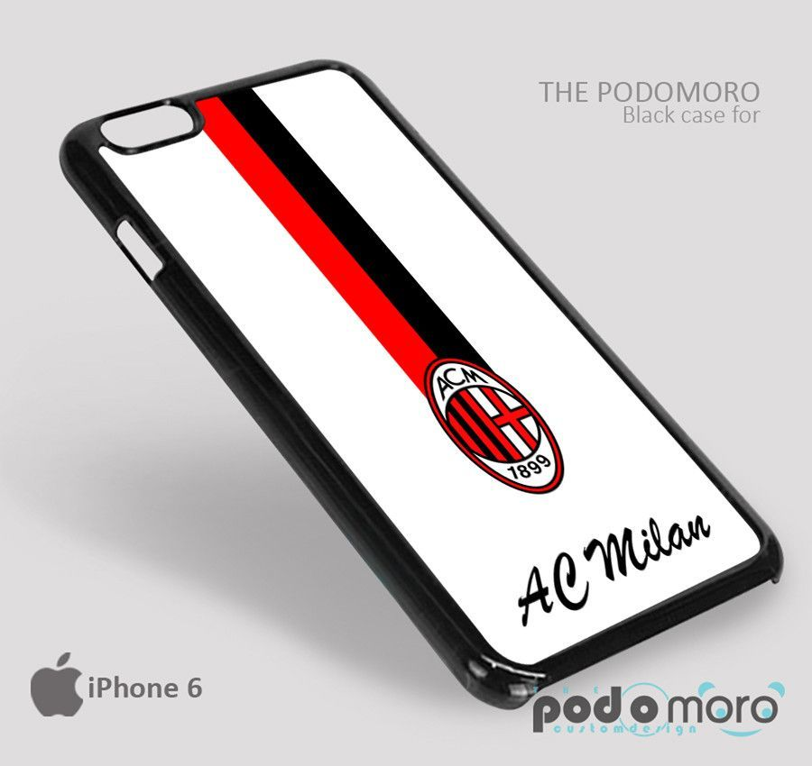 Ac Milan line Flag for iPhone 4/4S, iPhone 5/5S, iPhone 5c, iPhone 6, iPhone 6 Plus, iPod 4, iPod 5, Samsung Galaxy S3, Galaxy S4, Galaxy S5, Galaxy S6, Samsung Galaxy Note 3, Galaxy Note 4, Phone Case