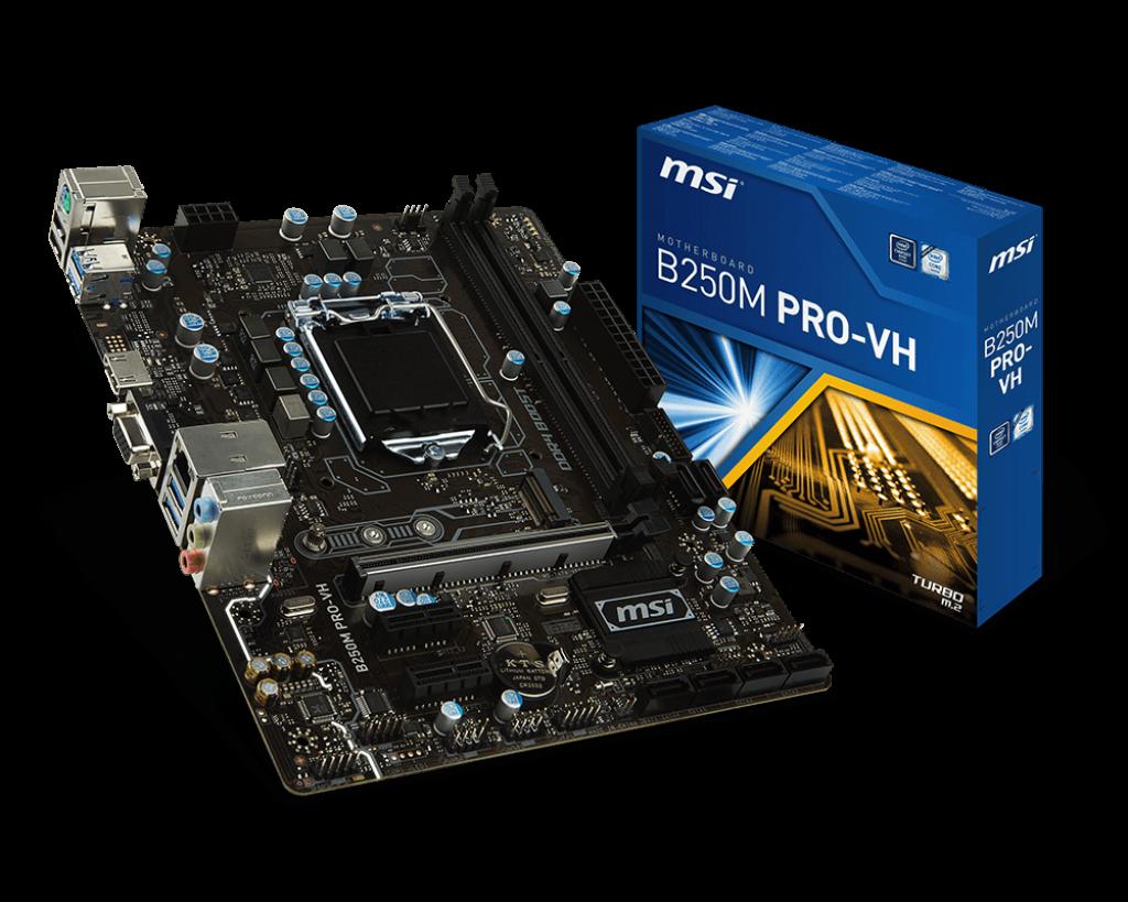 Msi B250m Pro Vh Socket Lga 1151 Gaming Motherboard Motherboard Msi Computer Processors