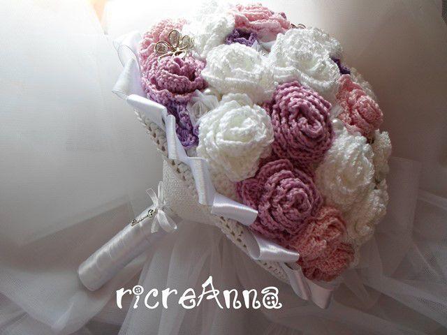Bouquet Sposa Uncinetto.Bouquet Sposa All Uncinetto Bridal Bouquet Crochet Modelli