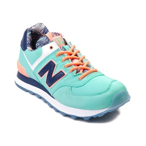 Shop for Womens New Balance 574 Athletic Shoe in Mint Coral Navy at  Journeys Shoes.