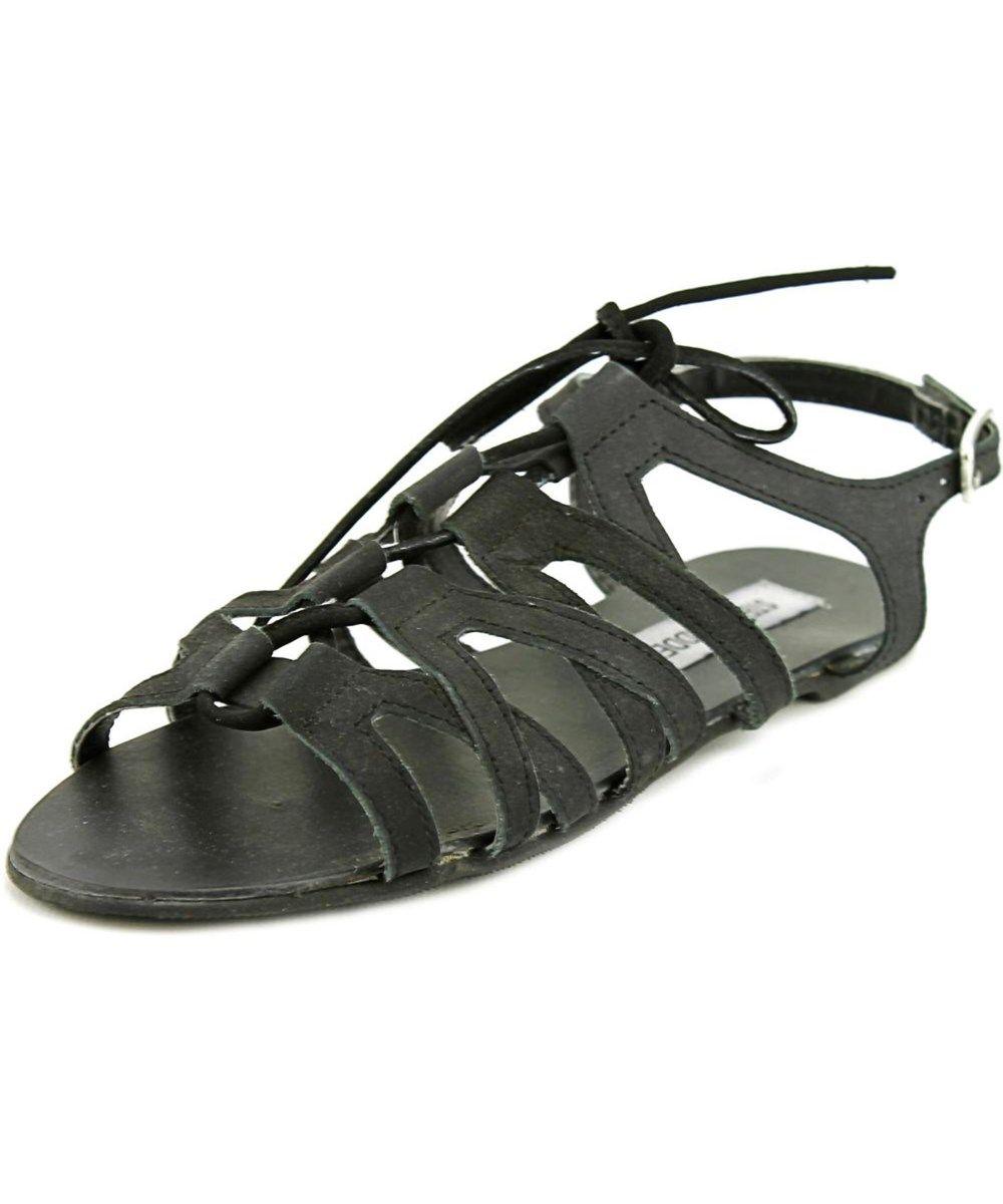 STEVE MADDEN Steve Madden Fonza Women  Open-Toe Leather Black Slingback Sandal'. #stevemadden #shoes #sandals