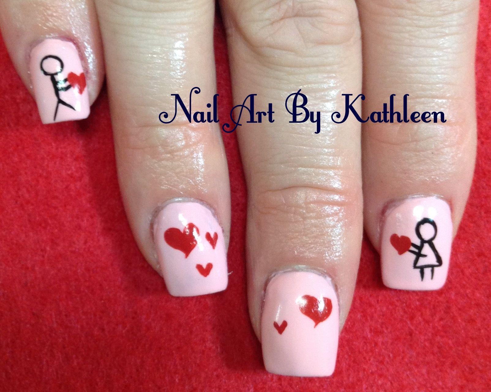 Stick Figure Love Nails | Nail Art | Pinterest | Stick figures ...