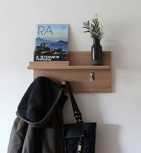 Floating Shelf Coat Rack Key Holder Storage Home Decor Housewarming Gift Key Rack Key Holder For Wall Wall Hook Australia Wooden Coat Hooks Coat Hooks Hallway Coat Pegs