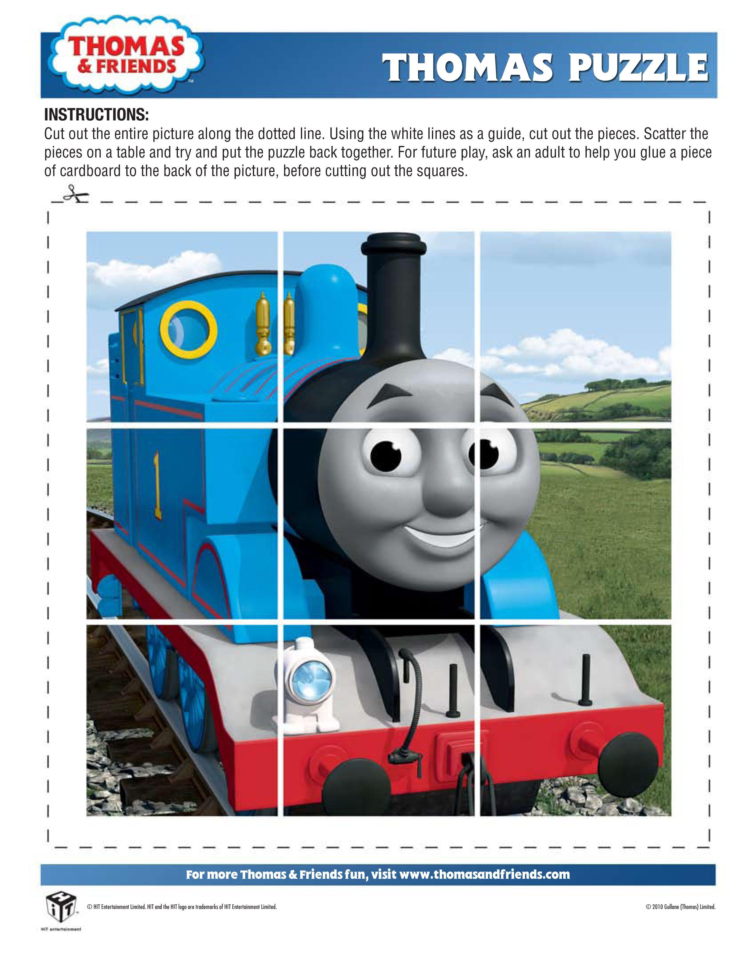 printable Thomas puzzle   Thomas and Friends Birthday Ideas ...