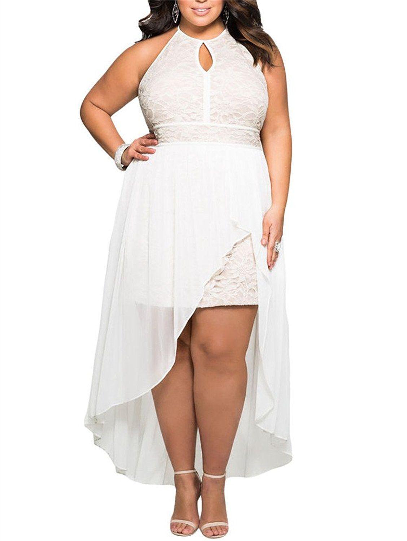 Gloriaandsarah Women S Front Keyhole Lace Halter Special Occasion Plus Size Mini Dress Check Th Plus Size Dresses Plus Size Party Dresses Curvy Girl Fashion [ 1500 x 1128 Pixel ]