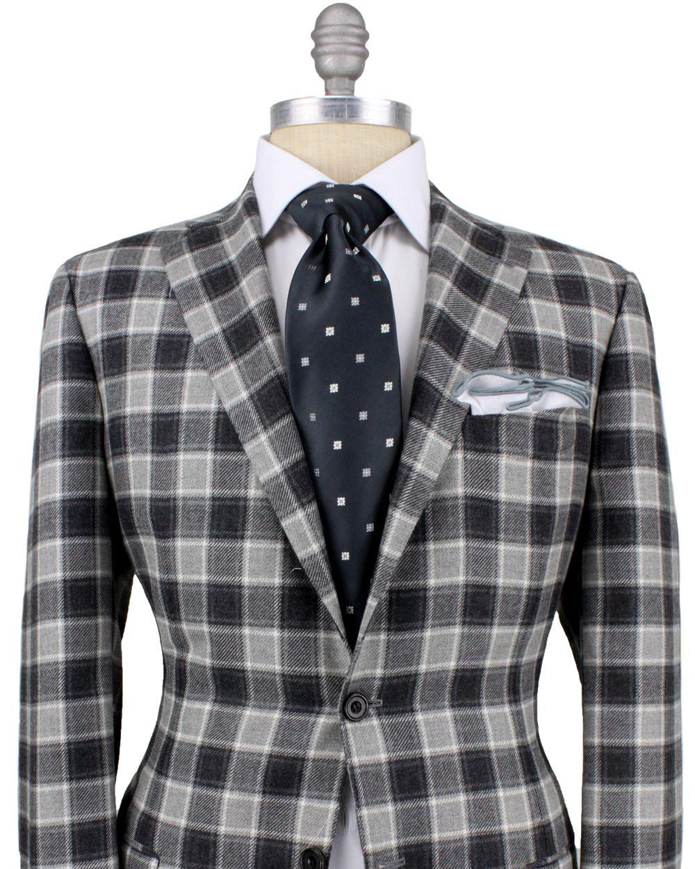 Grey Plaid Sportcoat