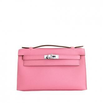 Hermès Rose Confetti Epsom Kelly Pochette Pink Clutch Bag Love