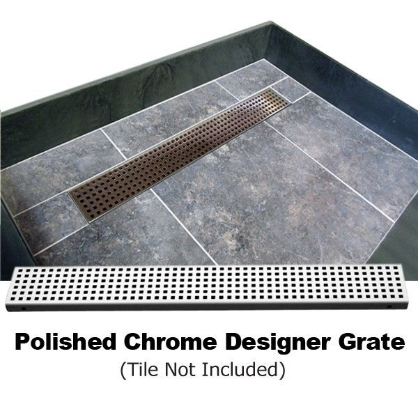 60 X 42 Single Threshold Shower Base With Drain Grate Shower