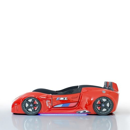 BMW Childrens Car Bed In Red With LED And Leather Seats_4