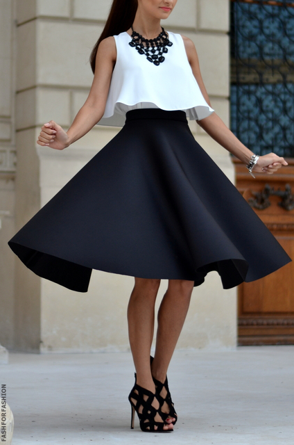fashforfashion -♛ STYLE INSPIRATIONS♛                                             Love the cut of this skirt and such a cute idea to pair it with a similar cut top