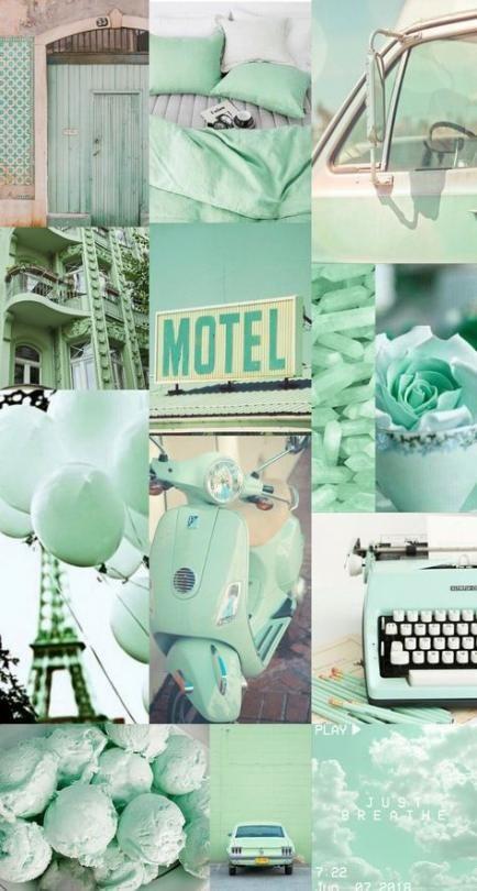 wallpaper aesthetic warna hijau pastel