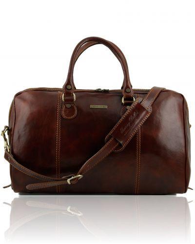 Travel leather duffle bag - Dark Brown   TRAVELLER   Travel bags ... b8bc1b4a7f
