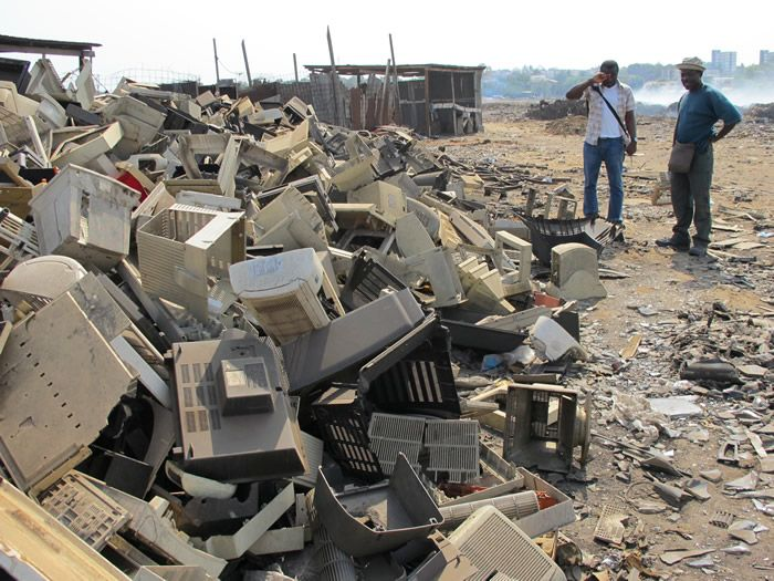 E-waste dumping in Ghana. Photo by Basel Action Network
