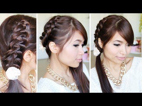 Crochet Stitch Ponytail Hairstyle For Medium Long Hair Tutorial Bebexo Youtube Peinados Con Coleta Peinados Sencillos Para Ninas Tutoriales Cabello