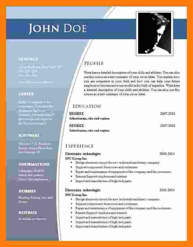 Download Resume Format In Word 2007 Colonarsd7 Free Resume Template Word Resume Template Word Microsoft Word Resume Template