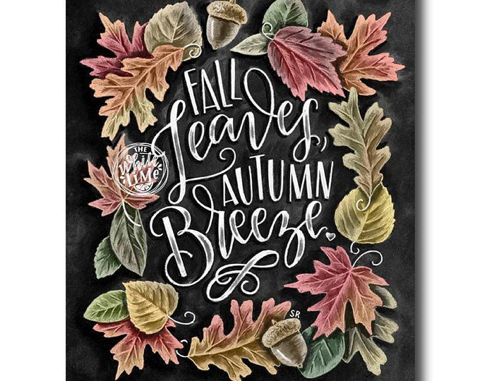 Fall Decor, Fall Quote, Fall Art, Chalkboard Art, Chalk Art, Typography, Autumn Decor, Pumpkins, Fall Leaves #hellofall