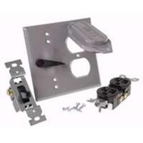 Bell 5166 5 Weatherproof Duplex Receptacle Switch Cover 2 Gang 4 1 2 X 4 1 2 Switch Covers Weatherproofing Receptacles