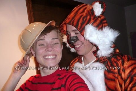 Cute Couples Costume Calvin and Hobbes Costumes - teenage couple halloween costume ideas