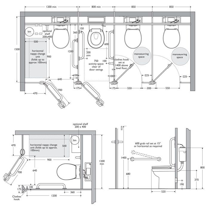 Interiors ref toilet cubicle dimensions interiors for Bathroom size