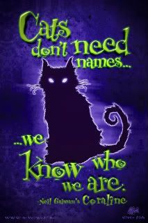 Cats Don T Need Names We Know Who We Are Comic Book Characters Coraline Cat Tim Burton Films