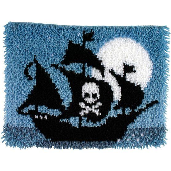 Caron Wonderart Latch Hook Kit Pirate Ship
