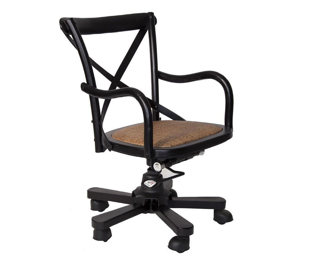 Krzesło Obrotowe Industrial Black