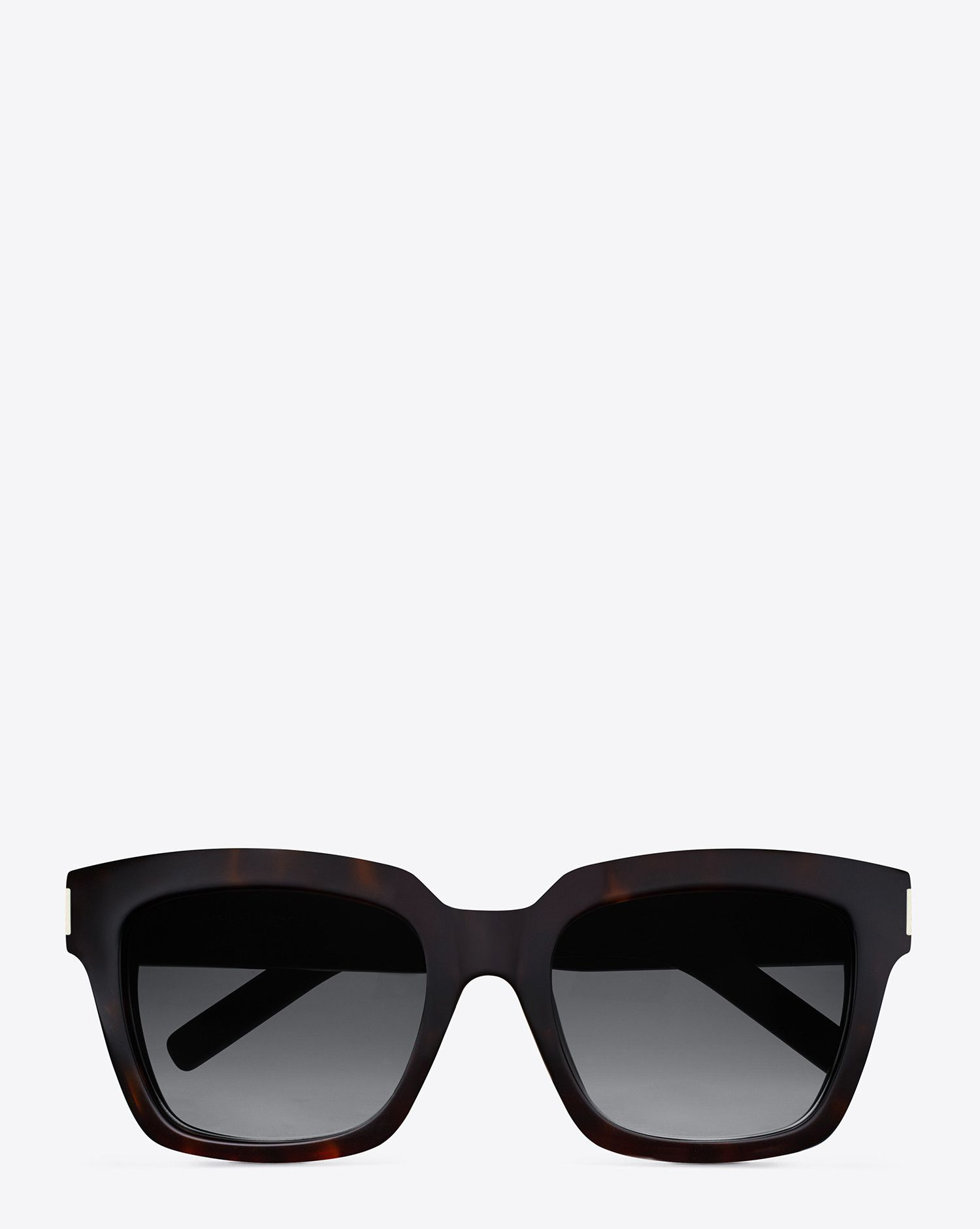 ce0d07f0ee5 Saint Laurent BOLD 1 SUNGLASSES IN Dark Havana ACETATE WITH GREY Shaded  LENSES