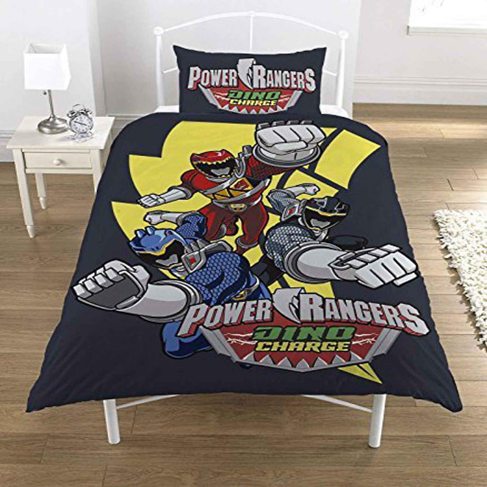 Power Rangers Dino Charge Single Duvet Cover Set Polycotton ...
