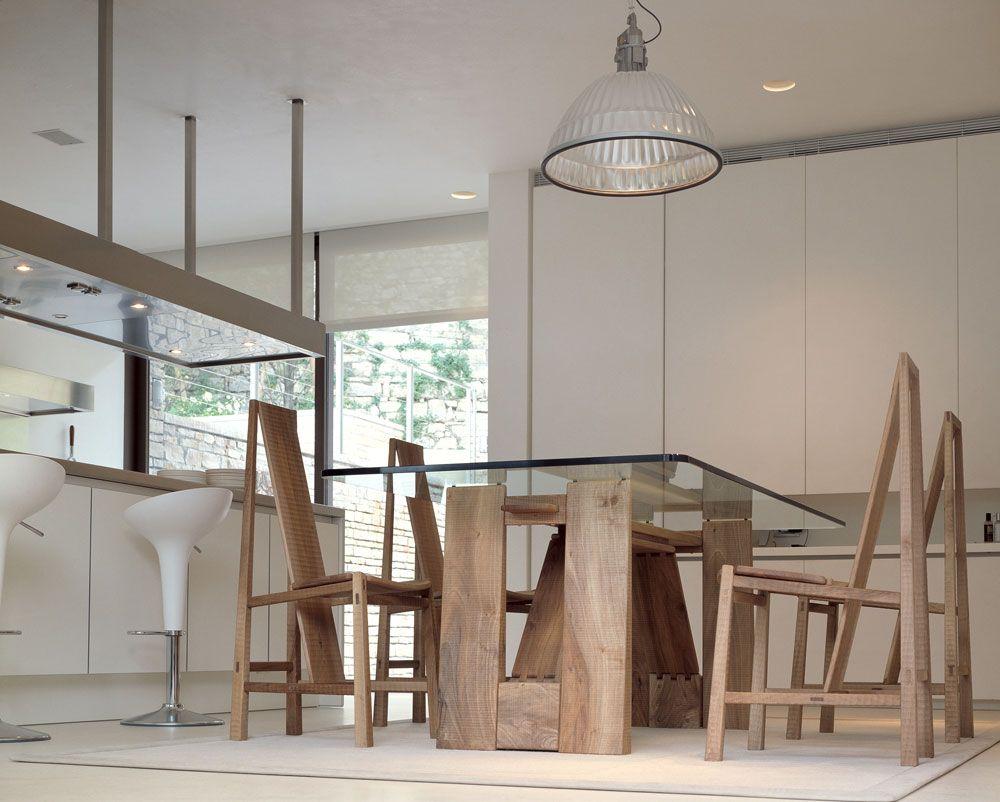 Tavolo rettangolare in legno e vetro PERUGINO by HABITO by Giuseppe ...
