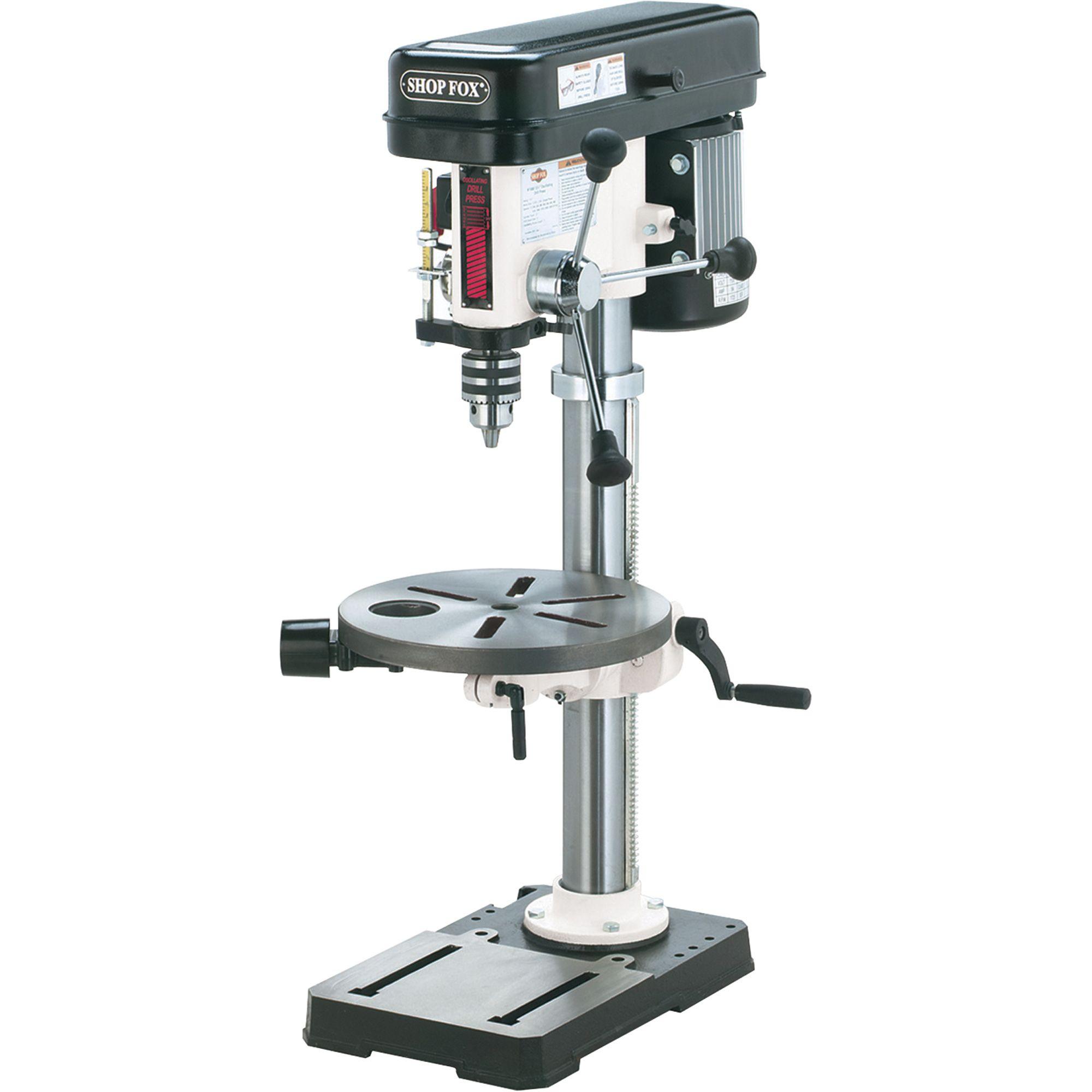 Shop Fox Oscillating Benchtop Drill Press 13in 3 4 Hp 120v Model W1668 In 2020 Drill Press Drill Presses Drill