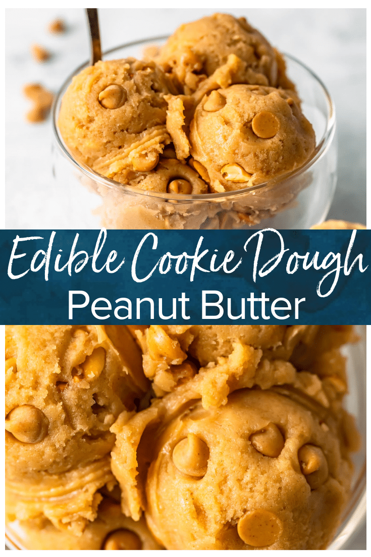 Edible Peanut Butter Cookie Dough Recipe - The Cookie Rookie® (VIDEO)