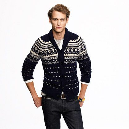 J.Crew Alpaca Fair Isle shawl-collar sweater $168 #christmas ...