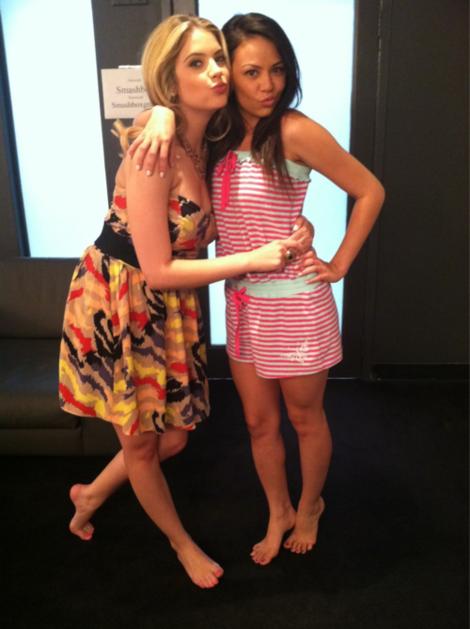 Janel Parrish & Ashley Benson.