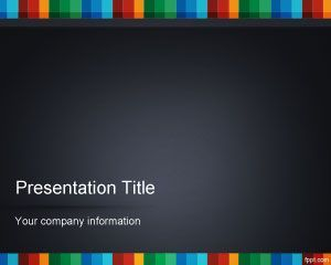 color strip powerpoint template ppt template tafeln pinterest