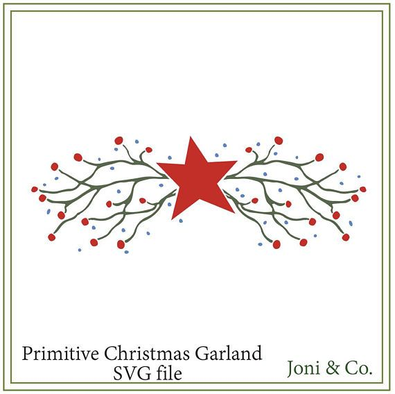 Christmas SVG file, Primitive Christmas svg, Chris