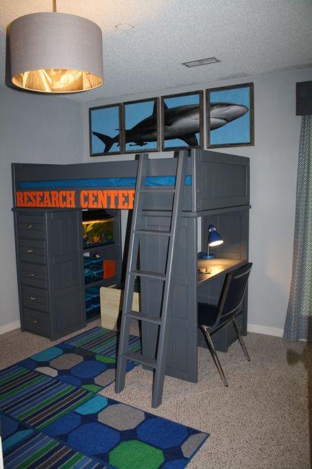 Shark Themed Loft Bed