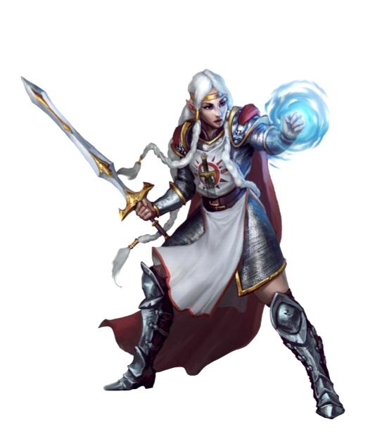 Female Half-Elf Warpriest of Iomedae - Pathfinder PFRPG ...