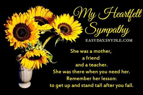sympathy card messages for