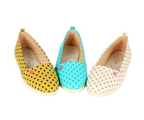 Dotted Slip-ons