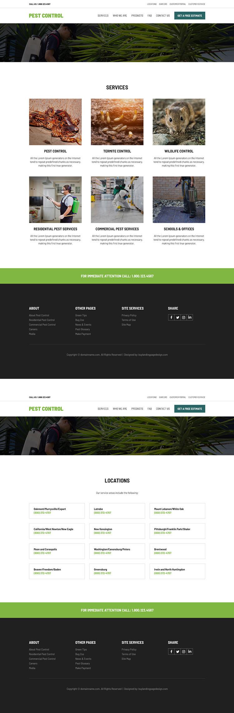 Pest Control Service Website Design 001 Pest Control Website Design Preview In 2020 Pest Control Responsive Website Design Website Design