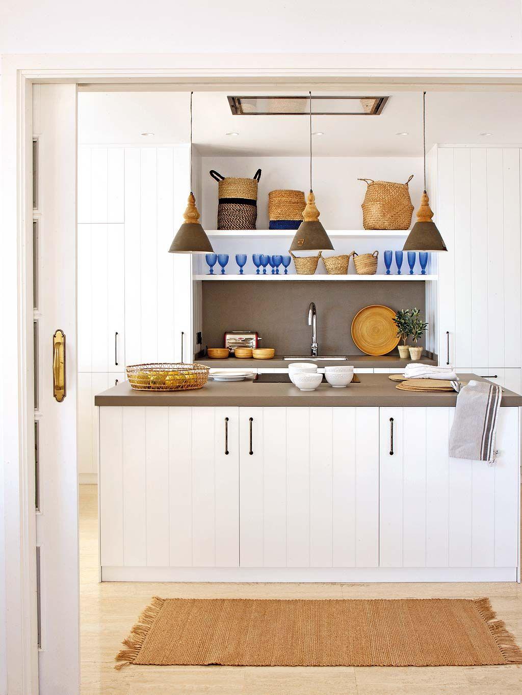 Cocina Sencilla   Una Cocina Sencilla Y Elegante A La Que Los Detalles De Mimbre Y