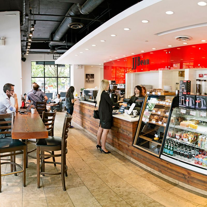 JJ Bean Coffee Roasters is a cafe that roasts a delicious
