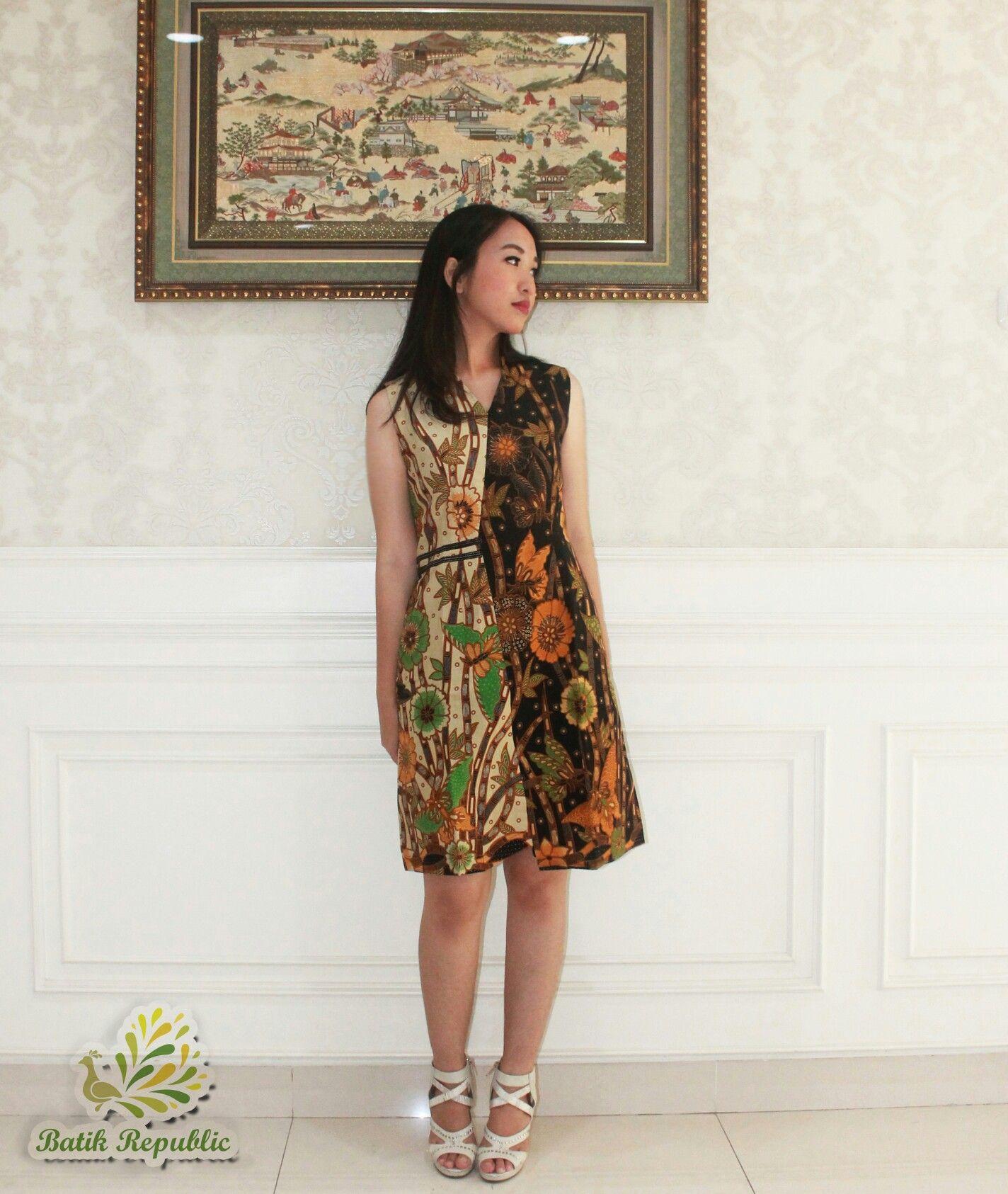 Batik Dress Modern , Batik Republic , Order By WA
