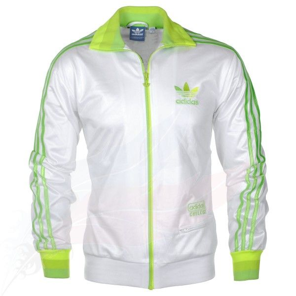 Marchitar maquillaje Más allá  Adidas Chile 62 Track Top Jacket - White/Green | Jacket tops, Discount  designer clothes, Adidas