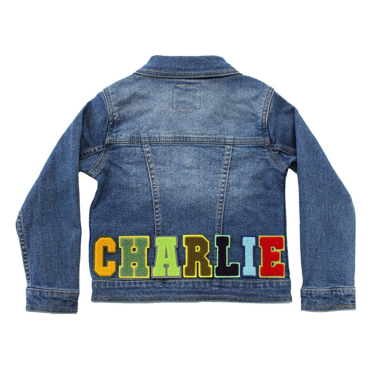 Levi S Baby Toddler Big Kid Personalized Denim Jacket Letters Only In 2021 Denim Jacket Jackets Customised Denim Jacket [ 1200 x 1200 Pixel ]