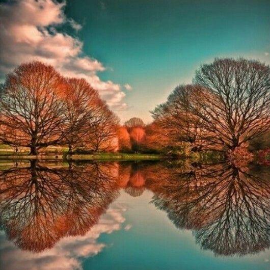 Espejo otoño. #Beautiful.