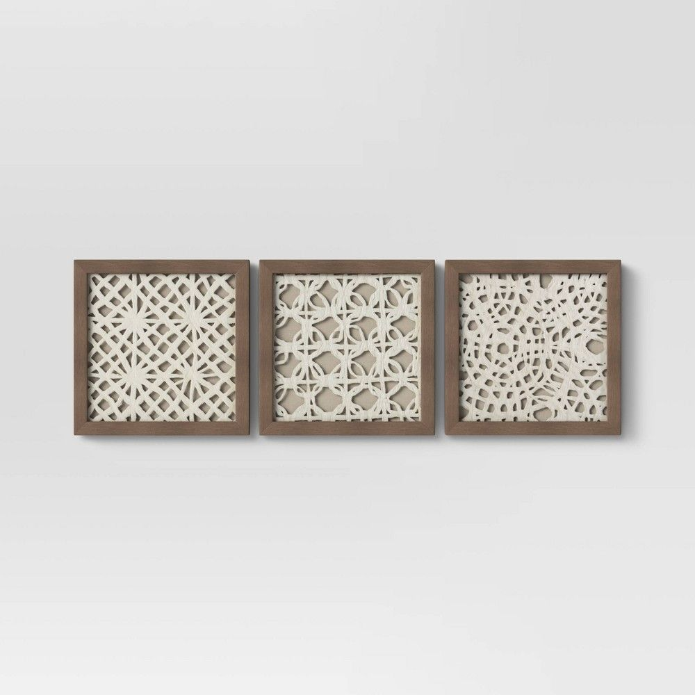 Set Of 3 10 X 10 Rice Paper Shadow Box Threshold In 2020 Shadow Box Framed Wall Canvas Frames On Wall
