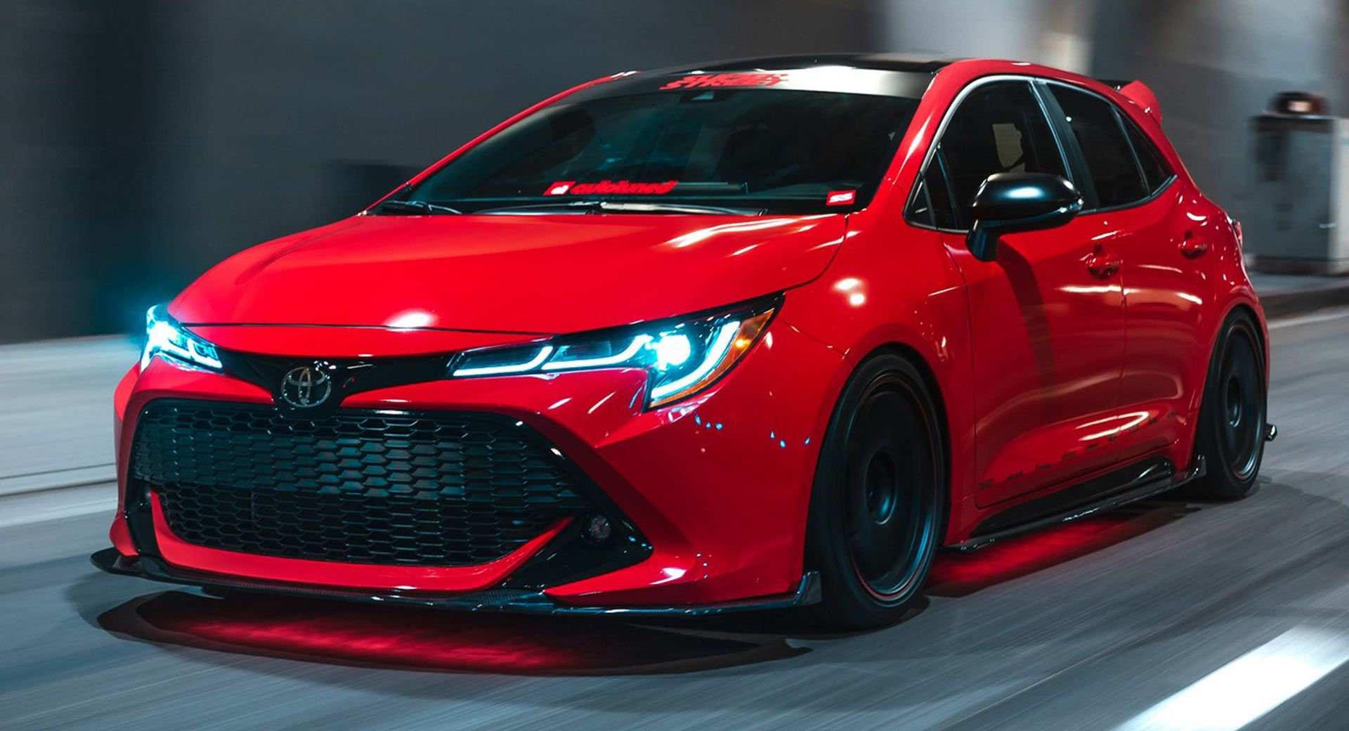 Toyota Hatches An Assortment Of Modified Corollas For Sema Carscoops In 2020 Corolla Hatchback Toyota Corolla Hatchback Toyota Corolla
