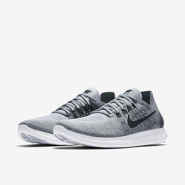 45cca5e6e91  1 Choice Nike Free RN Flyknit 2017 Women s Running Shoe Color desc  Wolf  Grey Anthracite Cool Grey Black Size  11